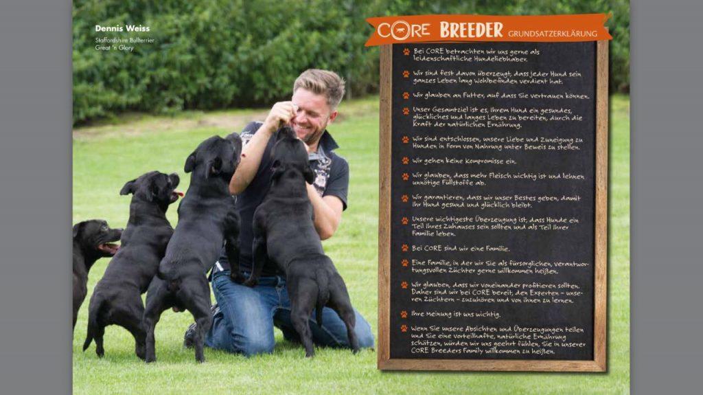 Staffordshire Bull Terrier Core Werbung