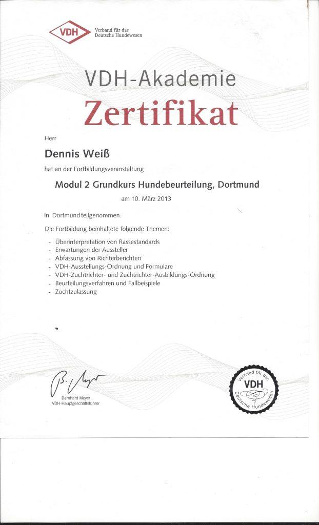 VDH Zertifikat Modul 2